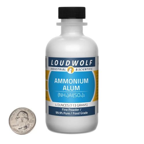 Ammonium Alum - 4 Ounces in 1 Bottle