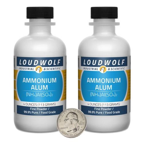 Ammonium Alum - 8 Ounces in 2 Bottles