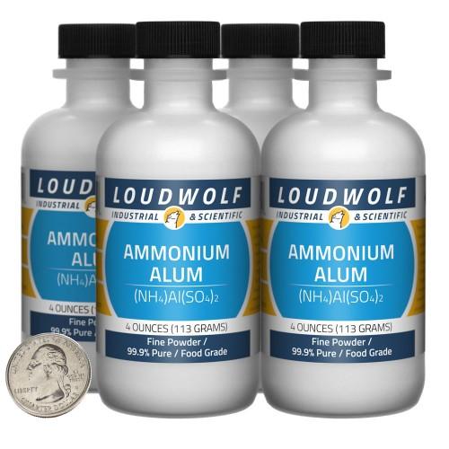 Ammonium Alum - 1 Pound in 4 Bottles