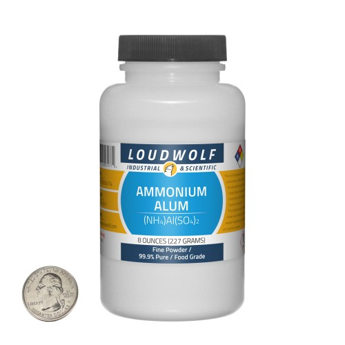 Ammonium Alum - 8 Ounces in 1 Bottle