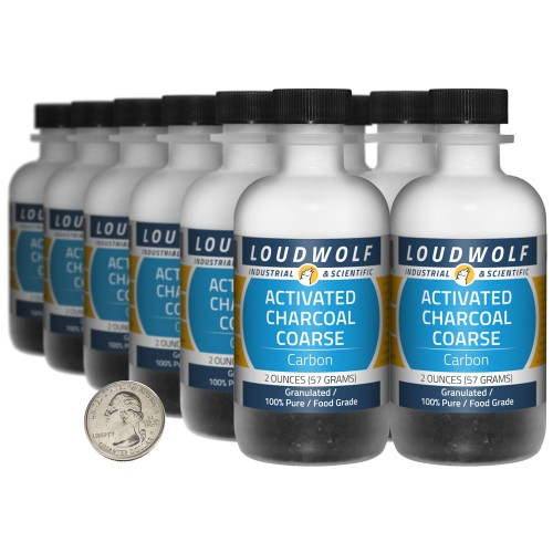 Activated Charcoal Coarse - 1.5 Pounds in 12 Bottles