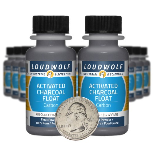 Activated Charcoal Float - 10 Ounces in 20 Bottles