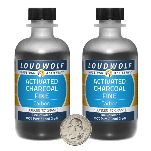 Activated Charcoal Fine - 4 Ounces in 2 Bottles