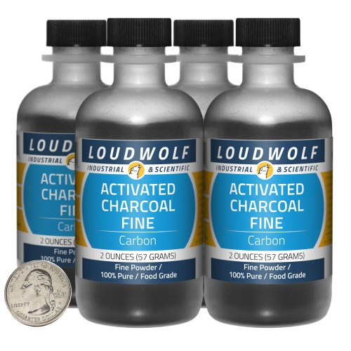 Activated Charcoal Fine - 8 Ounces in 4 Bottles