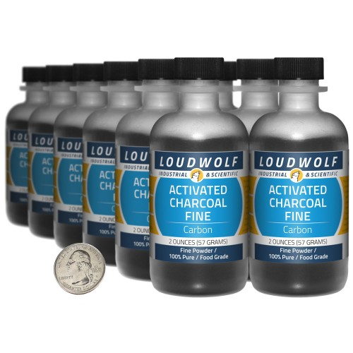 Activated Charcoal Fine - 1.5 Pounds in 12 Bottles