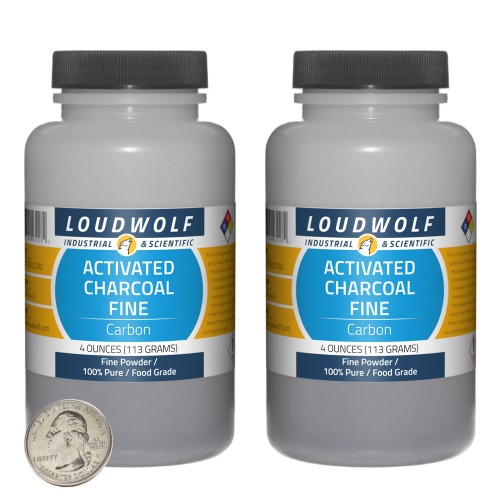 Activated Charcoal Fine - 8 Ounces in 2 Bottles