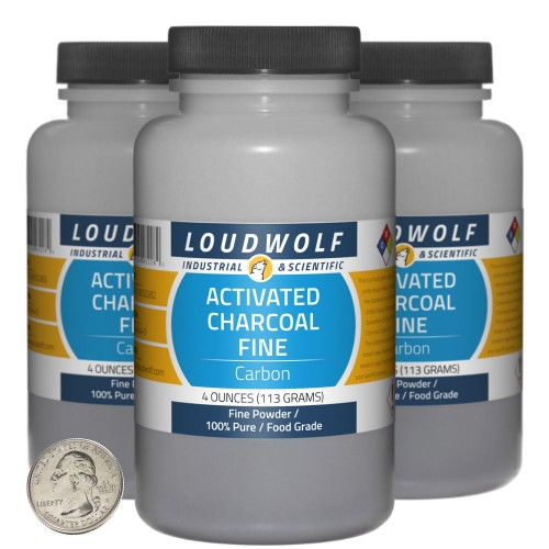Activated Charcoal Fine - 12 Ounces in 3 Bottles