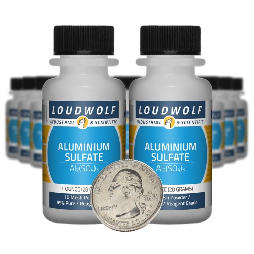 Aluminium Sulfate - 1.3 Pounds in 20 Bottles