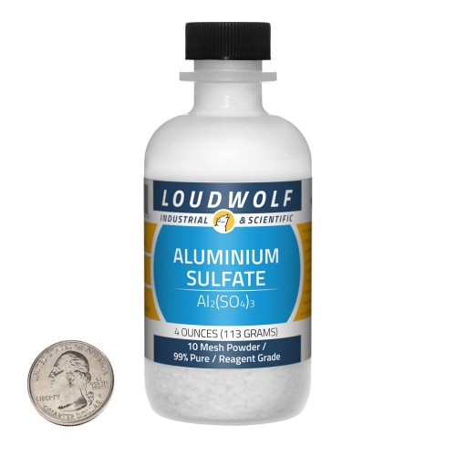 Aluminium Sulfate - 4 Ounces in 1 Bottle