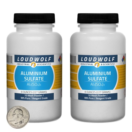 Aluminium Sulfate - 1 Pound in 2 Bottles