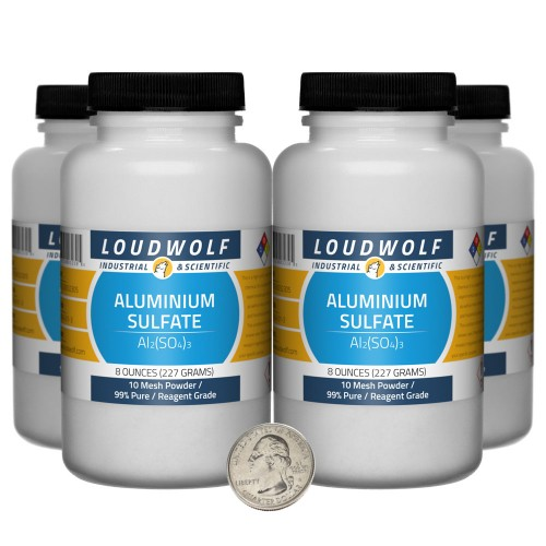 Aluminium Sulfate - 2 Pounds in 4 Bottles