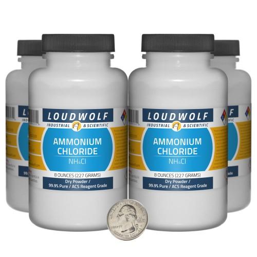 Ammonium Chloride - 2 Pounds in 4 Bottles