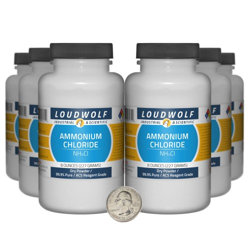 Ammonium Chloride - 3 Pounds in 6 Bottles
