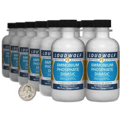 Ammonium Phosphate Dibasic - 2.3 Pounds in 12 Bottles