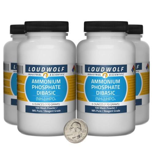 Ammonium Phosphate Dibasic - 1.5 Pounds in 4 Bottles