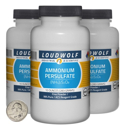 Ammonium Persulfate - 1.9 Pounds in 3 Bottles