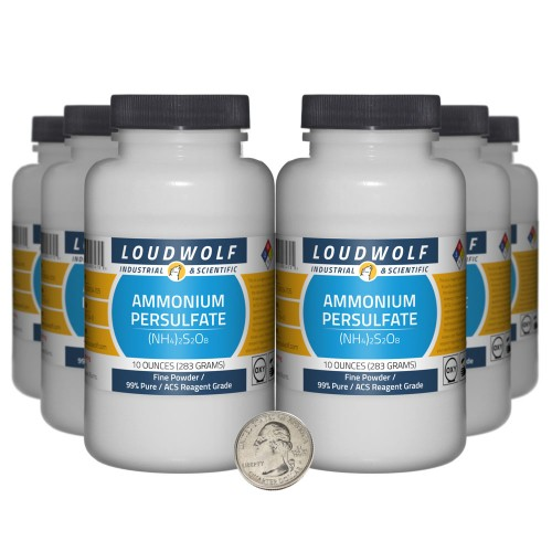 Ammonium Persulfate - 3.8 Pounds in 6 Bottles