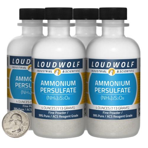 Ammonium Persulfate - 1 Pound in 4 Bottles