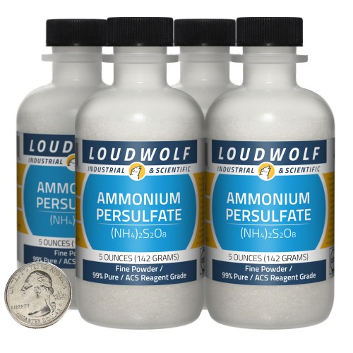 Ammonium Persulfate - 1.3 Pounds in 4 Bottles