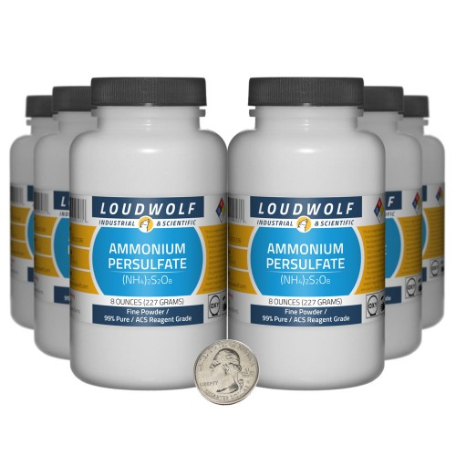 Ammonium Persulfate - 3 Pounds in 6 Bottles