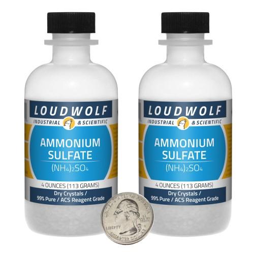 Ammonium Sulfate - 8 Ounces in 2 Bottles