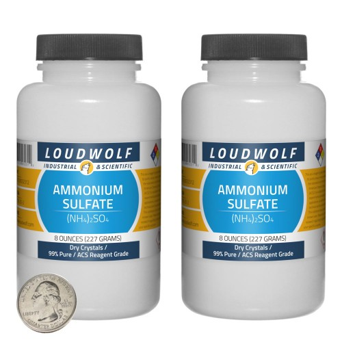 Ammonium Sulfate - 1 Pound in 2 Bottles