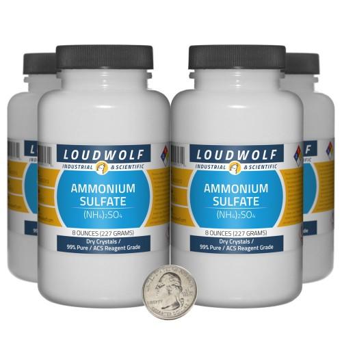 Ammonium Sulfate - 2 Pounds in 4 Bottles