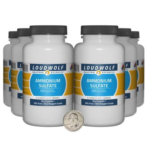 Ammonium Sulfate - 3 Pounds in 6 Bottles