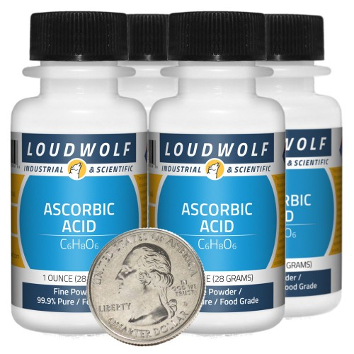 Ascorbic Acid - 4 Ounces in 4 Bottles