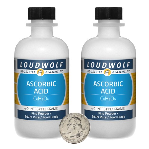 Ascorbic Acid - 8 Ounces in 2 Bottles