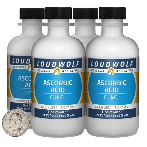 Ascorbic Acid - 1 Pound in 4 Bottles