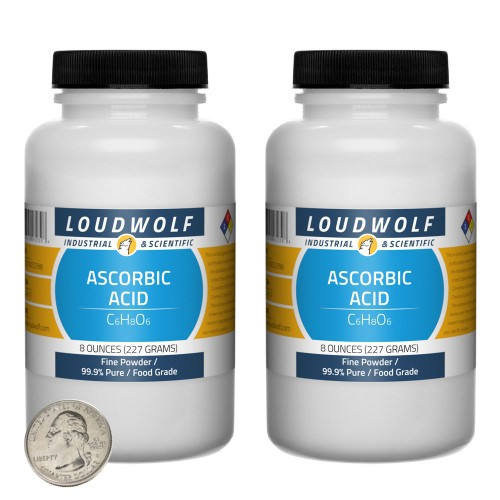 Ascorbic Acid - 1 Pound in 2 Bottles