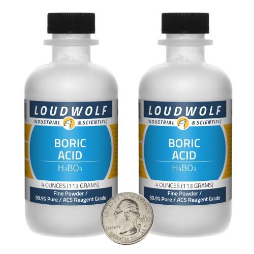 Boric Acid - 8 Ounces in 2 Bottles