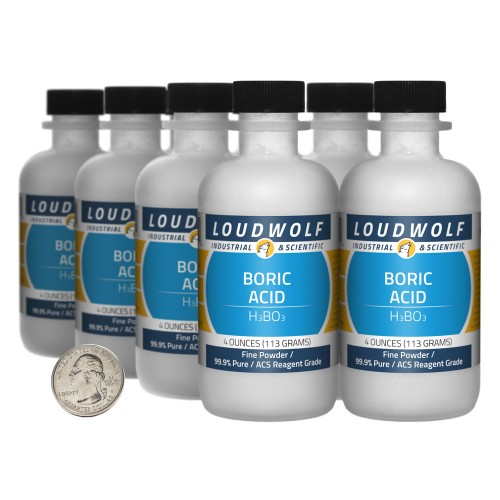 Boric Acid - 2 Pounds in 8 Bottles