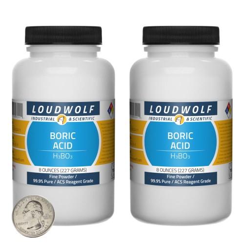 Boric Acid - 1 Pound in 2 Bottles