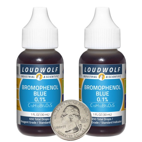 Bromophenol Blue 0.1% - 2 Fluid Ounces in 2 Bottles