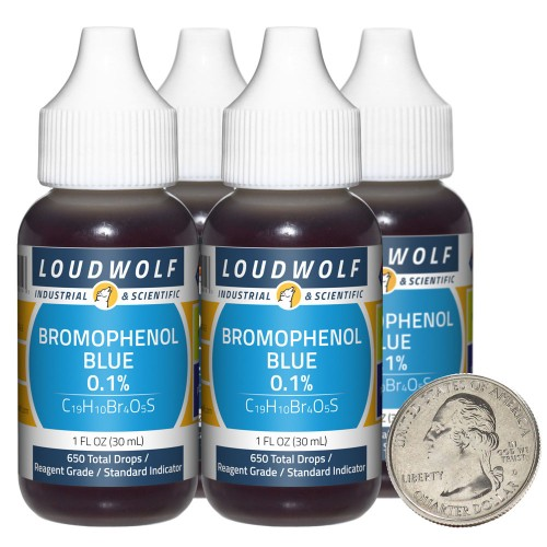 Bromophenol Blue 0.1% - 4 Fluid Ounces in 4 Bottles