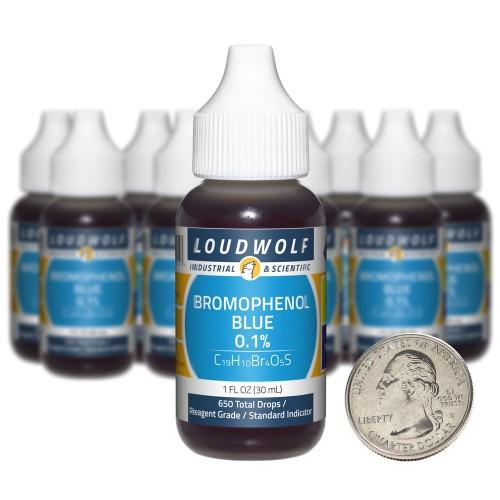 Bromophenol Blue 0.1% - 10 Fluid Ounces in 10 Bottles