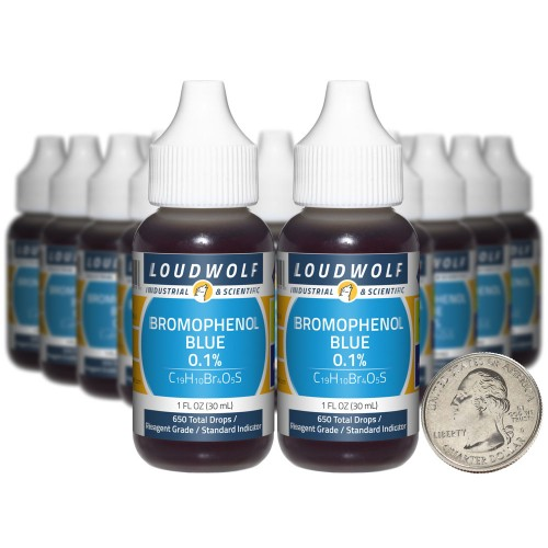 Bromophenol Blue 0.1% - 20 Fluid Ounces in 20 Bottles