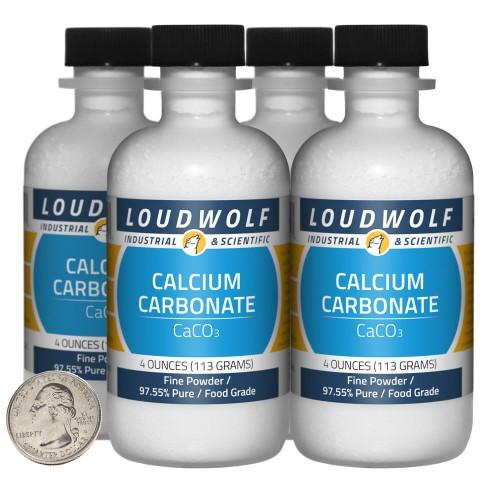 Calcium Carbonate - 1 Pound in 4 Bottles