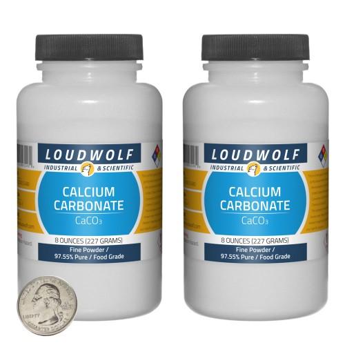 Calcium Carbonate - 1 Pound in 2 Bottles
