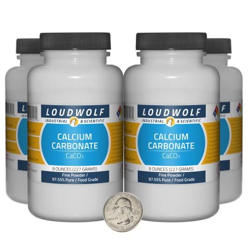 Calcium Carbonate - 2 Pounds in 4 Bottles