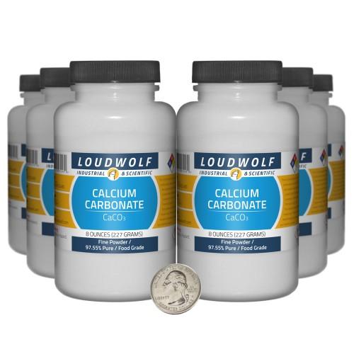 Calcium Carbonate - 3 Pounds in 6 Bottles