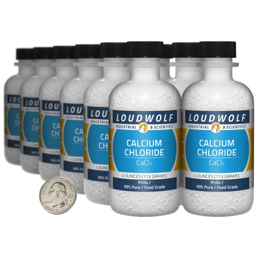 Calcium Chloride - 3 Pounds in 12 Bottles