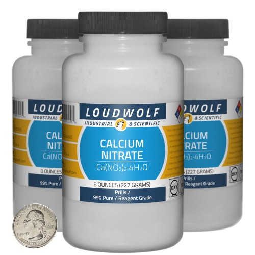 Calcium Nitrate - 1.5 Pounds in 3 Bottles