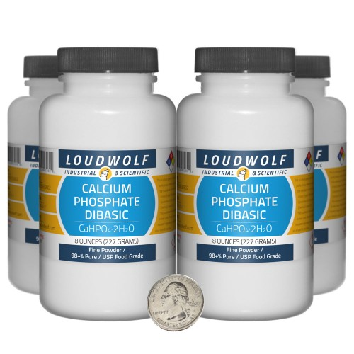 Calcium Phosphate Dibasic - 2 Pounds in 4 Bottles