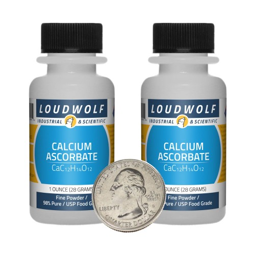 Calcium Ascorbate - 2 Ounces in 2 Bottles