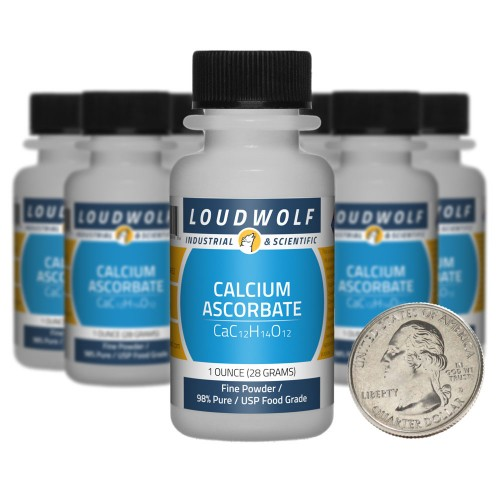 Calcium Ascorbate - 10 Ounces in 10 Bottles