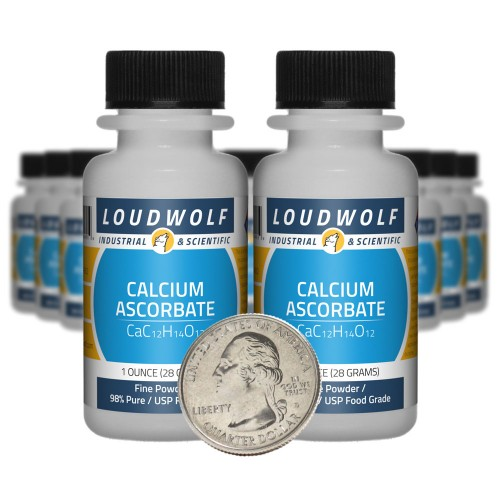 Calcium Ascorbate - 1.3 Pounds in 20 Bottles