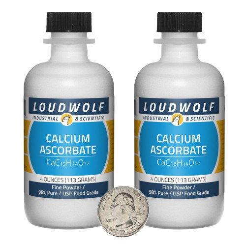 Calcium Ascorbate - 8 Ounces in 2 Bottles